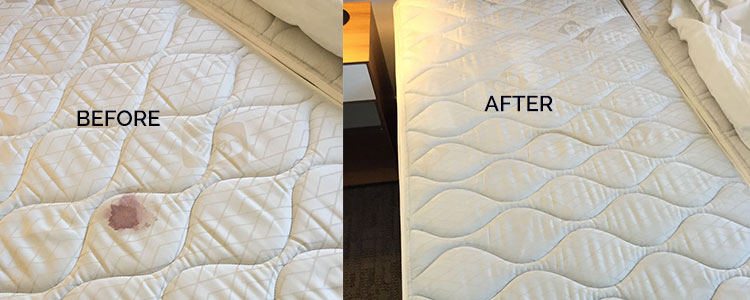 After Before Mattress Stain Removal Boondall