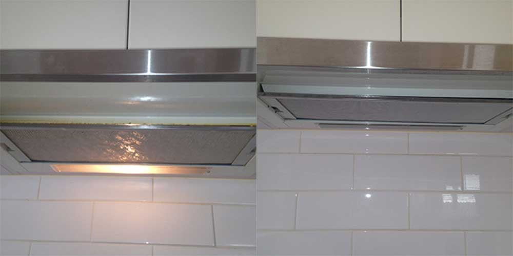Same Day Tile and Grout Cleaning (Before-After) Chambers Flat