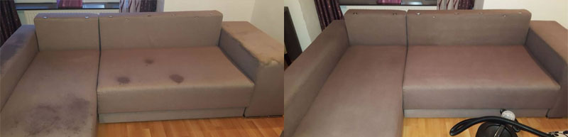 Upholstery Cleaning After-Before