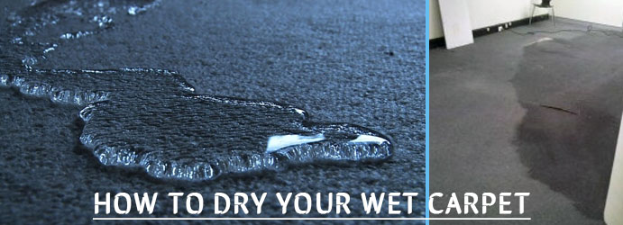 How to dry your wet carpet?